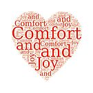 Christmas Gift - Comfort and Joy in Red and White - Holiday Decor - Clothing  by LJCM