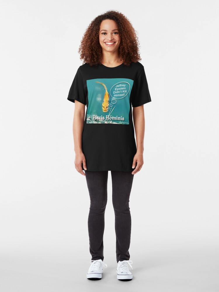 Alternate view of Swimming with the Fishes Slim Fit T-Shirt