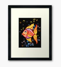 Happy Colorful Fish  Framed Print