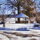 Winters Gazebo by Linda Miller Gesualdo