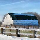 Snow Barn by Linda Miller Gesualdo
