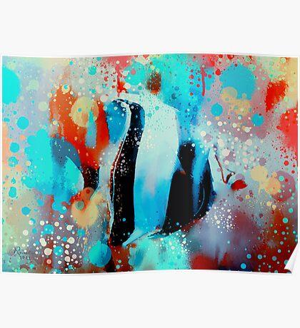 underwater rainbow Poster