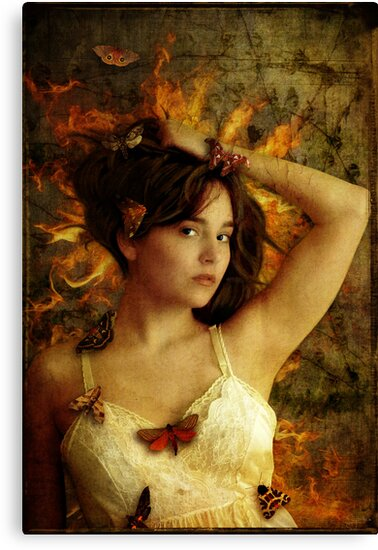 Girl with Moths by Sybille Sterk