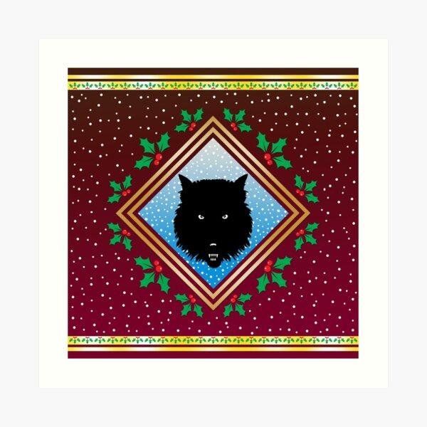 The Wolves Are Running Robin Red Fresco Art Print