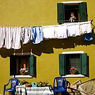 Laundry Day in Burano by Louise Fahy