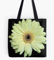 Pale yellow Gerbera Tote Bag