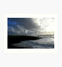 Stormy Day at Hook Head Lighthouse... Ireland Art Print