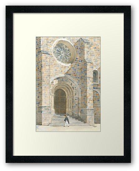 Front Façade - Bussière-Badil Church, France by ian osborne