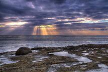 Sun Rays On The Ocean by Eddie Yerkish