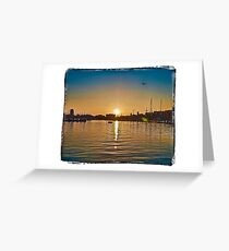 timing the sunset Greeting Card