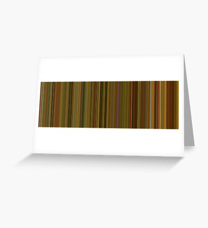 Moviebarcode: Amélie (2001) [Simplified Colors] Greeting Card