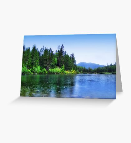 Autumn Rain (Lion Lake) Greeting Card