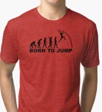 Evolution Born to jump pole vault Tri-blend T-Shirt