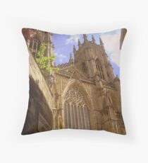York Minster from Precentor's Court Throw Pillow