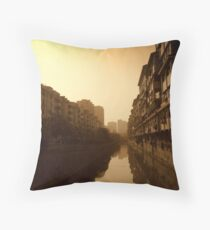 Changzhou River Reflection Throw Pillow