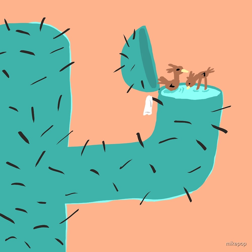 Secret Swimming Pool - Cactus by mikepop