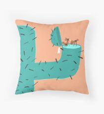 Secret Swimming Pool - Cactus Throw Pillow