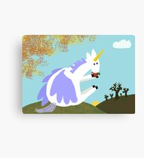 Pegacorn Takes A Break Canvas Print