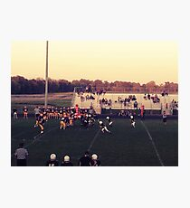 Small Town Football Game Photographic Print