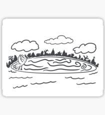 Westbrook Maine Ice Disk Sticker