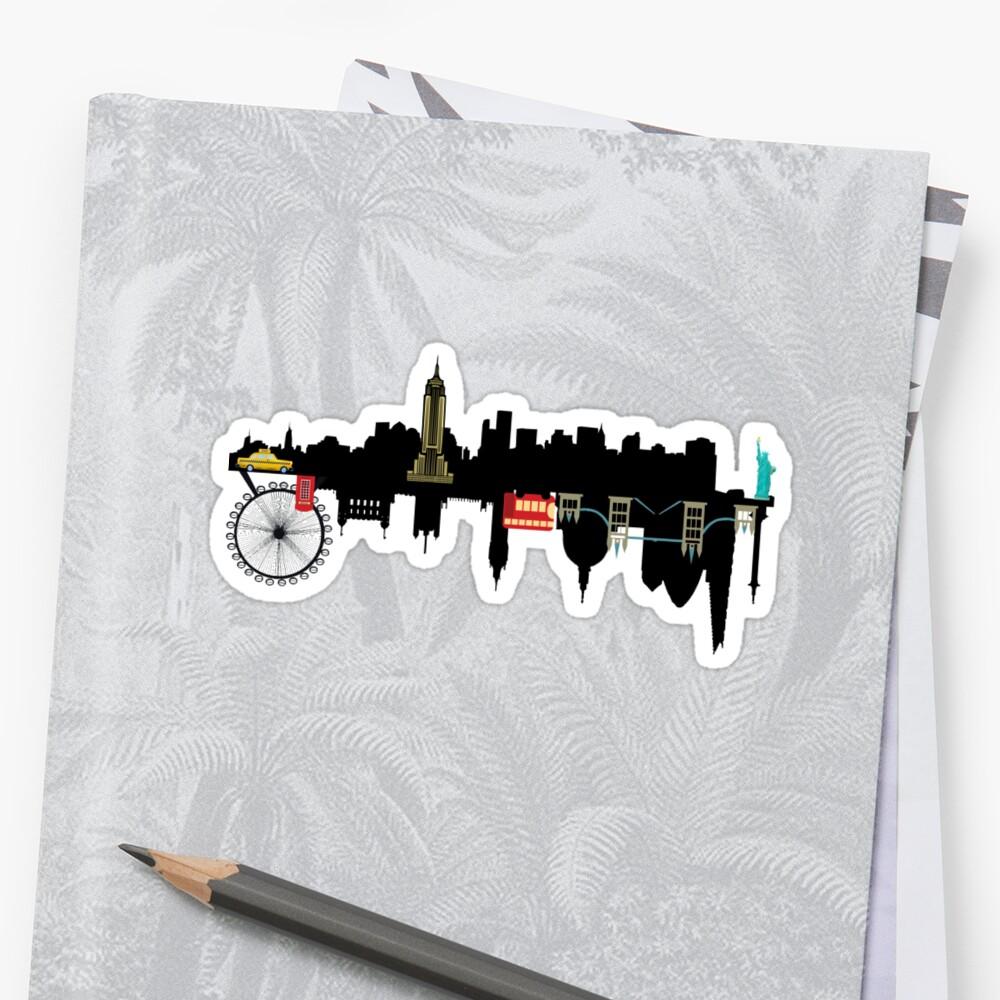 London & New York Sticker