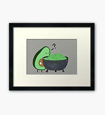 Guacamole Trouble Framed Print