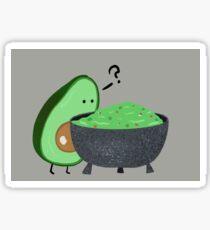 Guacamole Trouble Sticker