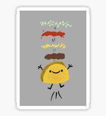 Taco Jumps For Joy Glossy Sticker