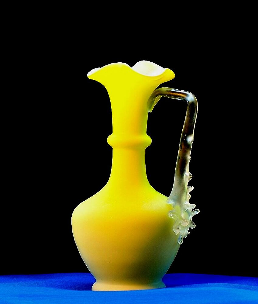 BEAUTIFUL YELLOW VASE~ by RoseMarie747