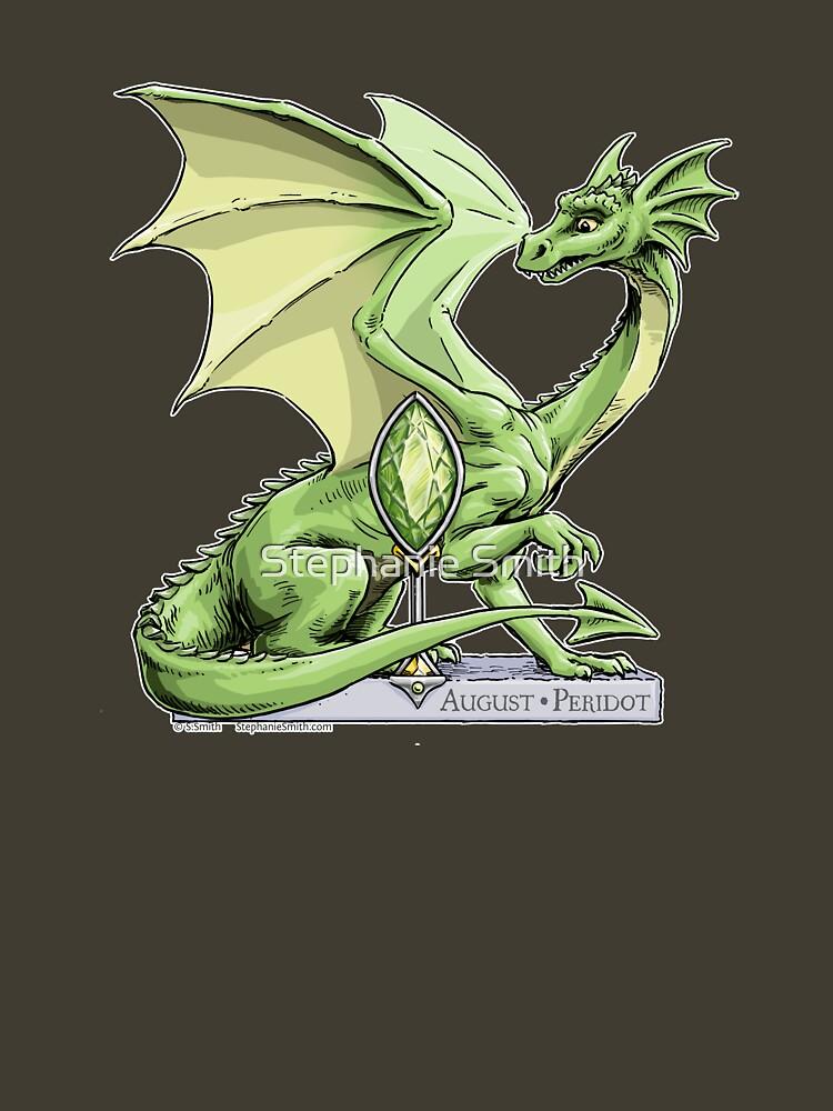 Birthstone Dragon: August Peridot Illustration by stephsmith