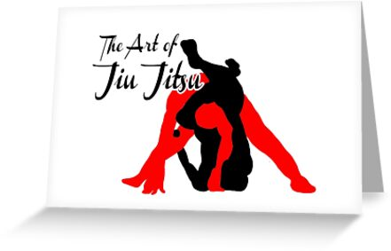 The Art Of Jiu Jitsu Rear Triangle Choke Greeting Cards By Yin888