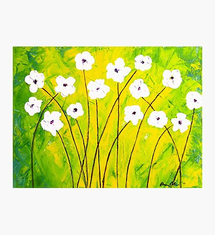 White Flower Abstract Photographic Print
