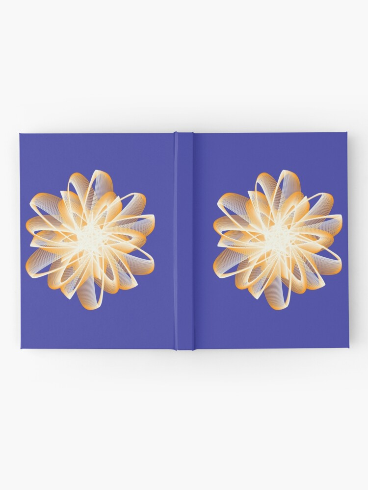 Alternate view of Abstract flower in orange Hardcover Journal