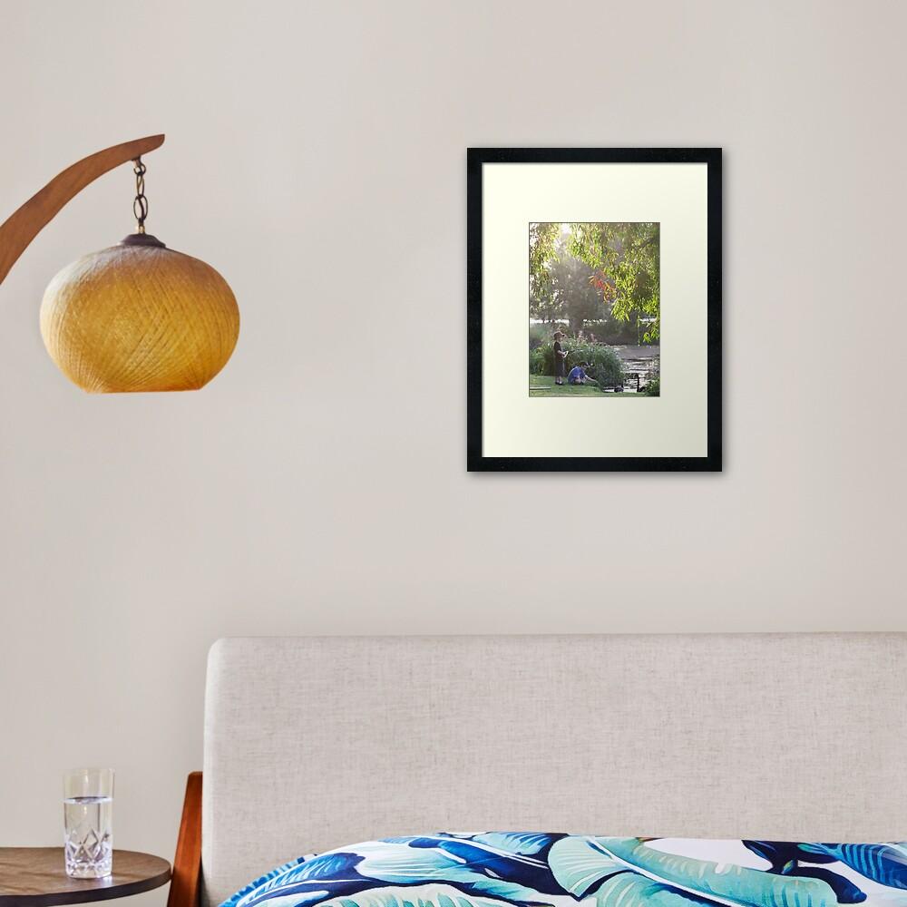 """Picnic  with nature-Baldwin swamp in Bundaberg"" Framed Art Print"