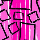 Squares on Pink by Dyan Burgess