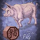 Year of the Pig Card by Stephanie Smith