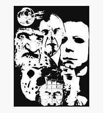 Horror Icons! Photographic Print