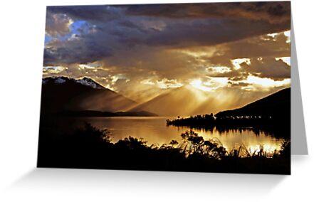 Lake Te Anau at sunset. South Island, New Zealand. (7) by Ralph de Zilva