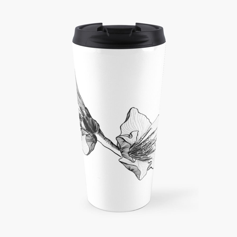 Almond Blossom Illustration Travel Mug