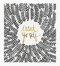 Treat Yo Self – Black & Gold Photographic Print