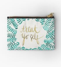 Treat Yo Self – Turquoise Studio Pouch