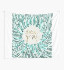 Treat Yo Self – Turquoise Wall Tapestry