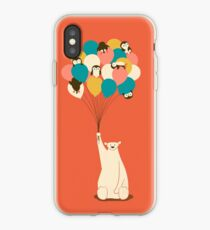 Pinguin-Blumenstrauß iPhone-Hülle & Cover