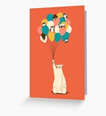 Penguin Bouquet Greeting Card