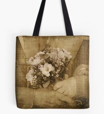 Golden wedding posy Tote Bag