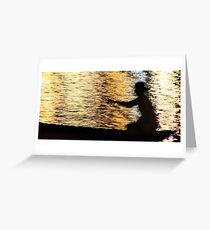 Sihouette in reflection Greeting Card
