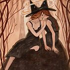 Whispers Only Sisters Understand - Witch Art by CarolOchs