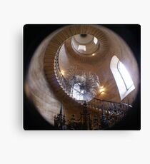Christopher Wren's Geometric Staircase, St Paul's Cathedral, London Canvas Print
