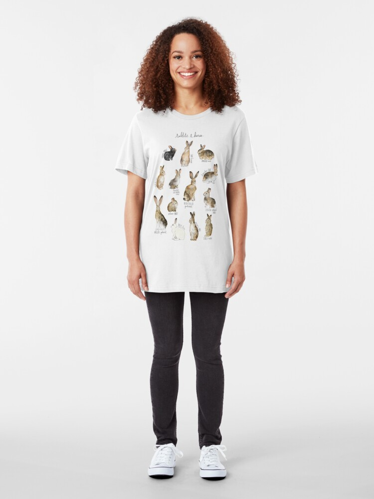 Alternate view of Rabbits & Hares Slim Fit T-Shirt
