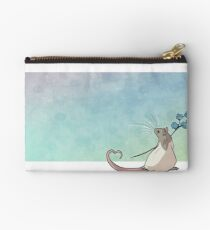 Forget Me Not Zipper Pouch